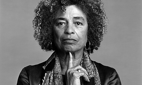 The multicultural lounge in Markley Hall, rededicated on October 17, 1991, celebrates the renowned and controversial political activist, Angela Davis.