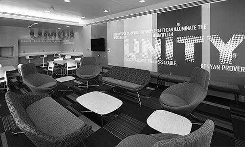 The name of this lounge, located in Alice Lloyd, was inspired by Kwanzaa, an African American holiday observed from December 26th to January 1st.