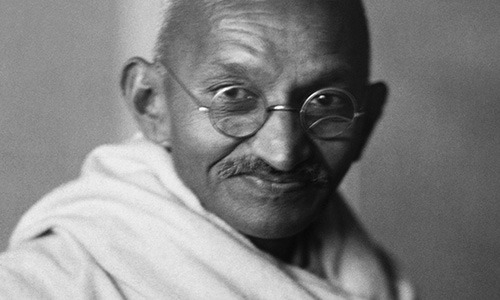 The Oxford Hall's minority culture lounge pays tribute to Mahatma Gandhi, a civil rights pioneer who initiated the practice of non-violent protest.