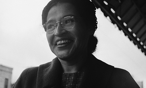 The Rosa Parks Lounge in Stockwell Hall was dedicated in 1973 and represents Park's dignity and strength in the struggle to end racial segregation.