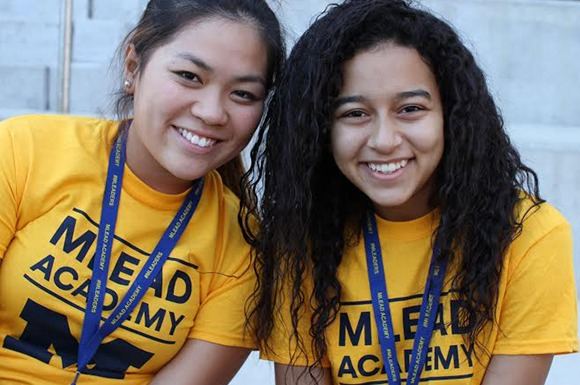 Two Students Volunteering